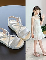 cheap -Girls' Sandals Comfort Children's Day Princess Shoes PU Little Kids(4-7ys) Big Kids(7years +) Daily Party & Evening Walking Shoes Buckle Pink Beige Spring Summer