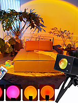cheap -Sunset Projection Lamp Remote Control RGB 16 Colors Changeable  Tik tok  Instagram  Atmosphere Led Light For Home Bedroom Shop Background Wall Decoration