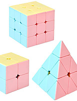 cheap -MoYu Speed Cube Set,3 Pcs Puzzle Cubes(2x2,3x3,Pyramid Stickerless Speed Cube),Magic Cube Puzzle Toys for Kids and Adults,Party Favor Brain Teaser Toys