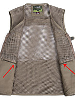 cheap -Men's Hiking Vest / Gilet Fishing Vest Sleeveless Vest / Gilet Jacket Top Outdoor Quick Dry Lightweight Breathable Sweat wicking Autumn / Fall Spring Summer Army green[05] Khaki[05] Deep Khaki[05]