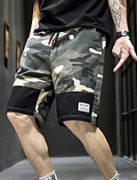 """cheap -Men's Hiking Shorts Hiking Cargo Shorts Military Camo Summer Outdoor 12"""" Ripstop Breathable Sweat wicking Wear Resistance Cotton Knee Length Bottoms Camouflage Black Rough Black Camouflage Gray Work"""