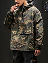 cheap -Men's Hiking Jacket Hiking Windbreaker Outdoor Camo / Camouflage Quick Dry Lightweight Breathable Sweat wicking Jacket Top Hunting Fishing Climbing Camouflage