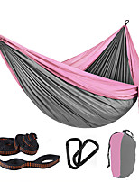 cheap -Camping Hammock Outdoor Portable Ultra Light (UL) Breathability Quick Dry Foldable Parachute Nylon with Carabiners and Tree Straps for 2 person Hunting Fishing Hiking Yellow Red Army Green 300*200 cm