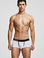 cheap -Men's 1 Piece Basic Boxers Underwear / Briefs Underwear - Normal Mid Waist White Black Blue M L XL