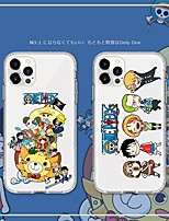 cheap -One Piece Phone Case For Apple Back Cover iPhone 12 Pro Max 11 SE 2020 X XR XS Max 8 7 Shockproof Dustproof Cartoon TPU