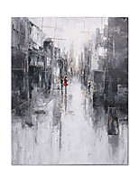 cheap -Oil Painting Hand Painted Abstract Street Wall Art Home Decoration Rolled Canvas No Frame Unstretched