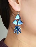 cheap -Women's Hoop Earrings Geometrical Petal Stylish Trendy Earrings Jewelry Blue For Party Wedding 1 Pair