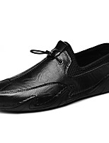 cheap -Men's Loafers & Slip-Ons British Daily Pigskin White Black Brown Fall Spring