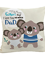 cheap -Double Side Print Father's Day Cushion Cover 1PC Linen Soft Decorative Square Throw Pillow Cover Cushion Case Pillowcase for Sofa Bedroom 45 x 45 cm (18 x 18 Inch) Superior Quality Machine Washable