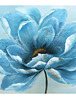 cheap -IARTS Hand Painted Water lilies Oil Painting   with Stretched Frame For Home Decoration