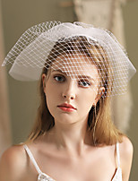 cheap -Two-tier Artistic Style / Vintage Style Wedding Veil Blusher Veils / Shoulder Veils with Solid Tulle