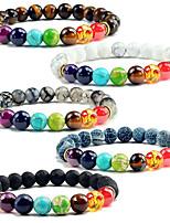 cheap -states 8mm colorful volcanic stone copper bracelet colorful seven chakra energy yoga bead bracelet