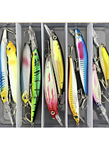 cheap -10 pcs Lure kit Fishing Lures Minnow lifelike 3D Eyes Floating Bass Trout Pike Sea Fishing Lure Fishing Freshwater and Saltwater