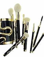 cheap -10pcs/set makeup brushes foundation concealer eyeshadow eyeliner lip blending make up maquillage & makeup brush bucket make up brushes tool kit (color : gold)