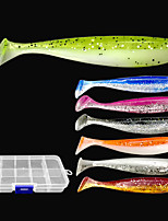 cheap -25 pcs Lure kit Fishing Lures Soft Bait Shad lifelike 3D Eyes Bass Trout Pike Lure Fishing Freshwater and Saltwater