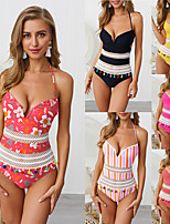 cheap -Women's One Piece Swimsuit Nylon Swimwear Bodysuit Quick Dry Breathable Sleeveless Swimming Surfing Water Sports Patchwork Summer