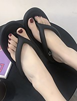 cheap -Women's Sandals Flat Heel Round Toe PU Solid Colored White Black Pink