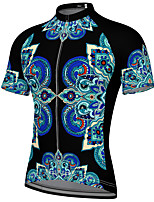cheap -21Grams Men's Short Sleeve Cycling Jersey Spandex Black Bike Top Mountain Bike MTB Road Bike Cycling Breathable Quick Dry Sports Clothing Apparel / Athleisure