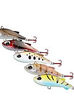 cheap -5 pcs Fishing Lures Vibration / VIB 3D Eyes Bass Trout Pike Lure Fishing Freshwater and Saltwater