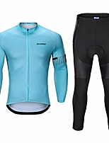 cheap -men's long sleeve cycling jersey sets cycling clothes outdoor riding suits quick dry outfits