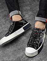 cheap -Men's Sneakers Leather Shoes Comfort Shoes Crib Shoes Sporty Casual Daily Outdoor Walking Shoes Cowhide Synthetics Breathable Non-slipping Shock Absorbing Booties / Ankle Boots Black Silver Spring