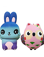 cheap -2 Pack Squishy Toys, Animal Slow Rising Squishies Owl/Rabbit, Super Soft Sweet Scented Kawaii Squeeze Toys for Kids Adults