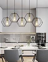 cheap -LED Pendant Light 78 cm Lantern Desgin Geometric Shapes Island Design Pendant Light Metal Vintage Style Classic Metal Painted Finishes Island Nordic Style 110-120V 220-240V