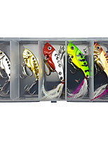 cheap -5 pcs Lure kit Fishing Lures Vibration / VIB with Feather Sinking Bass Trout Pike Lure Fishing Freshwater and Saltwater