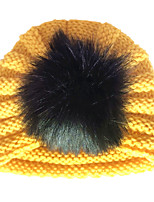 cheap -new product autumn and winter children's warm woolen hat, baby earmuffs, head hat, european and american baby fur ball hat, indian hat