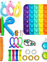 cheap -25 pcs Push Pop Bubble Sensory Fidget Toys Deformation Rope Toys Marbles Ball Autism ADHD Anxiety Therapy Toys Fidget Toys