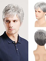cheap -Synthetic Wig Straight Short Bob Wig Short Silver grey Synthetic Hair Men's Cosplay Party Fashion Silver Dark Gray