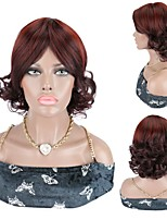 cheap -Short Wigs Short Bouncy Curl Wigs Synthetic Hair Wigs 99J Burgundy Red Wigs For Women