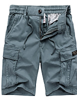 """cheap -Men's Hiking Shorts Hiking Cargo Shorts Military Summer Outdoor 10"""" Ripstop Multi Pockets Breathable Sweat wicking Cotton Knee Length Bottoms Yellow Blue Grey Orange Work Hunting Fishing 29 30 31 32"""