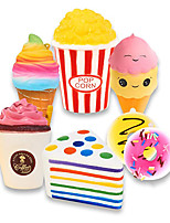 cheap -Slow Rising Jumbo Set 7 PCS Rainbow Triangle Cake Frappuccino Popcorn Donuts Ice Cream Kawaii Squishy Toys or Stress Relief Toys Sticker Come with The Squishies