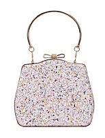 cheap -Women's Bags Alloy Top Handle Bag Glitter Glitter Shine Party Wedding 2021 Black Blushing Pink Rainbow