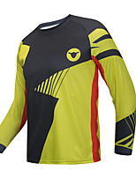 cheap -CAWANFLY Men's Long Sleeve Downhill Jersey with Pants Dirt Bike Jersey Winter Black / Yellow Novelty Funny Bike Tee Tshirt Jersey Top Mountain Bike MTB Road Bike Cycling Breathable Sports Clothing