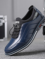 cheap -Men's Oxfords Daily Office & Career Walking Shoes PU Waterproof Wear Proof Black Blue Orange Fall Spring