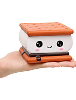cheap -Squishies Cake Chocolate Sandwich Biscuit Cookies Pizza Kawaii Soft Slow Rising Scented Food Bread Squishies Stress Relief Kid Toys