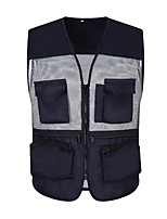 cheap -Women's Men's Hiking Vest / Gilet Fishing Vest Sleeveless Vest / Gilet Jacket Top Outdoor Quick Dry Lightweight Breathable Sweat wicking Autumn / Fall Spring Summer Navy Black Red Hunting Fishing