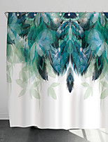 cheap -Shower Curtains with Hooks Feathers Scenery Polyester Novelty Fabric Waterproof Shower Curtain for Bathroom