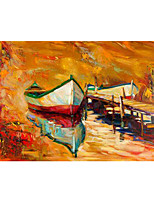 cheap -IARTS Hand Painted Pull in Oil Painting   with Stretched Frame For Home Decoration