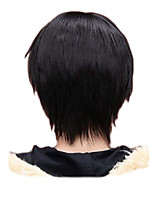 cheap -Men Boy Short Straight Cosplay Men Party Black 32 Cm Heat Resistant Synthetic Hair Wigs