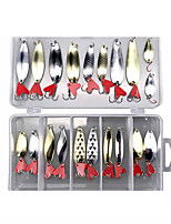 cheap -20 pcs Lure kit Fishing Lures Spoons Sinking Bass Trout Pike Lure Fishing Freshwater and Saltwater