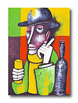 cheap -Stretched Oil Painting Hand Painted Canvas Abstract Comtemporary Modern High Quality Picasso Ready to Hang