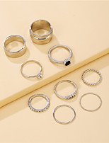 cheap -nine-piece ring combination trendy hip-hop index finger ring joint ring