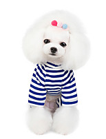 cheap -Dog Cat Dog clothes Stripes Animal Stripes Animal Dailywear Casual / Daily Dog Clothes Puppy Clothes Dog Outfits Breathable Blue Pink Orange Costume for Girl and Boy Dog Padded Fabric S M L XL XXL