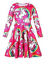 cheap -dresses for girls long sleeve unicorn birthday 7-8 size 10-12 size 12-16 5 6 10 12 teens