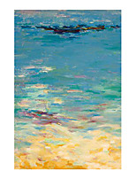 cheap -IARTS Hand Painted sea surface Oil Painting with Stretched Frame For Home Decoration