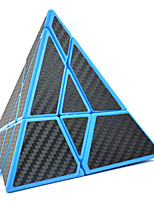 cheap -Ghost Pyramid Cube Carbon Fiber Sticker Pyraminx Magic Cube Triangle Carbon Fiber Sticker Twisty Puzzle Brain Teaser Puzzle Toys