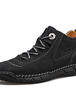 cheap -Men's Sneakers Classic Daily Outdoor Nappa Leather Breathable Non-slipping Wear Proof Black Green Brown Spring Summer